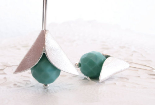 iomiss (via little turquoise sterling silver flower by iomiss on Etsy)