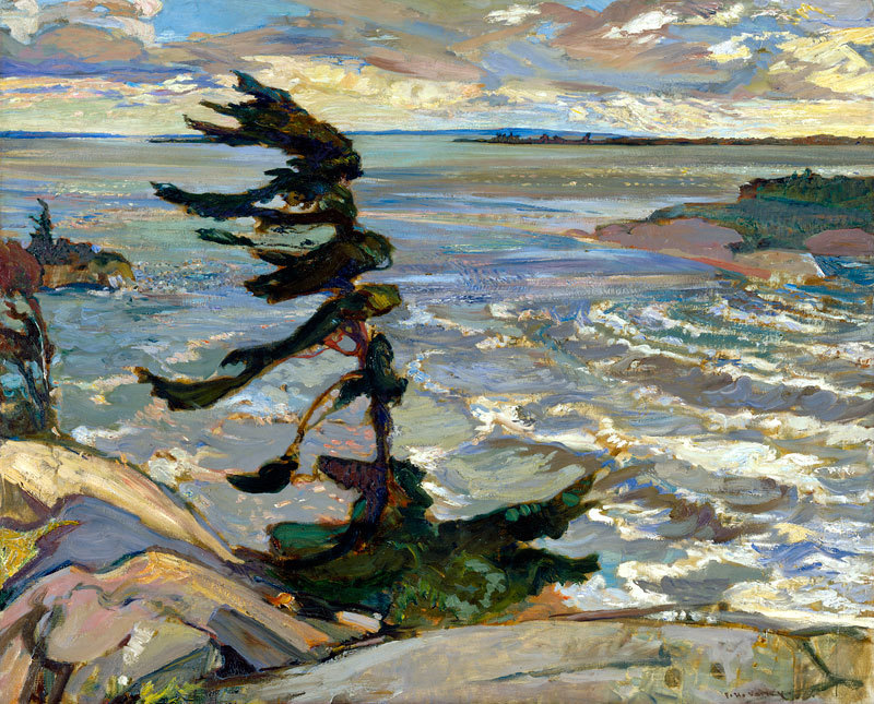 Frederick Varley, 1921, Stormy Weather, Georgian Bay. (via:artmastered)