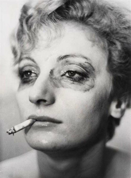 Viva, (portrait of woman smoking), New York, N.Y., 1962. Photo by Louis Faurer