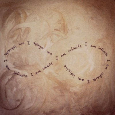 Ania's inspiring artwork. We are all #infinite!  (Taken with Instagram)