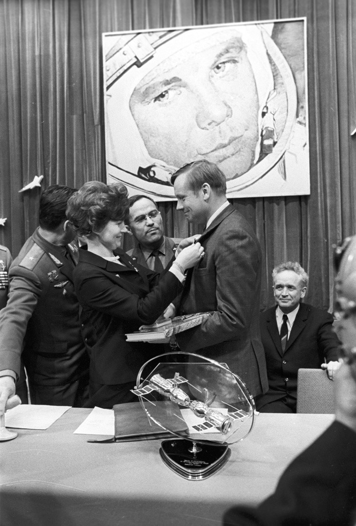 Valentina Tereshkova and Neil Armstrong