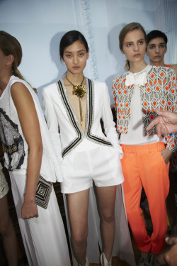 oystermag:  London Fashion Week Backstage: Sass & Bide