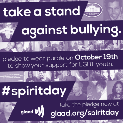 thetrevorproject:  Pledge to wear purple on October 19 to show your support for LGBT youth. #spiritday