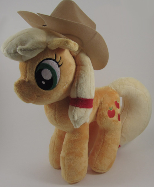 That one plush I finished today was this! Applejack!  She's currently on my Etsy at the moment, which you can find here  The eyes are by DatNaro!