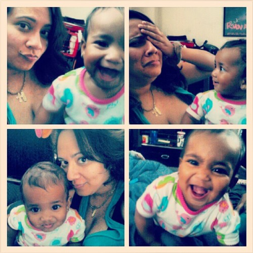 From the other day. #Sophia and i having fun with each other….till she punched me in the face lol #StillLoveHer #crazy #baby #mommydaughtertime  (Taken with Instagram)