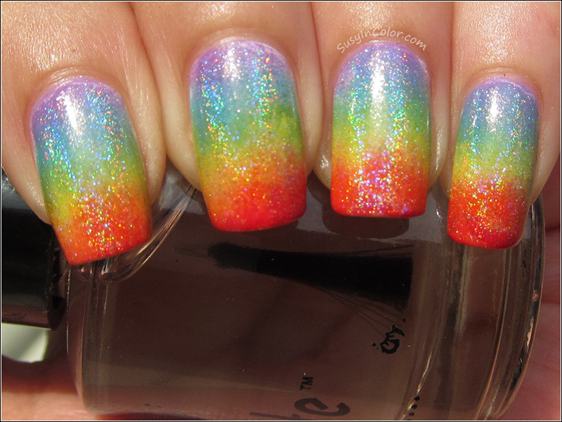 susyincolor:  Rainbow gradient with Hits Hefesto on top.