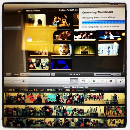 #working on a new #project on #imovie (Taken with Instagram)