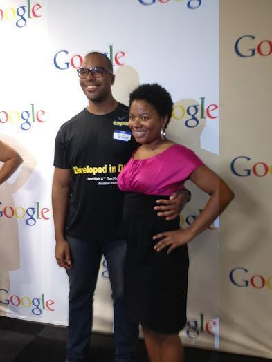 Ron and Adrienne at Google's Inspiring Entrepreneur Under 30 Event.