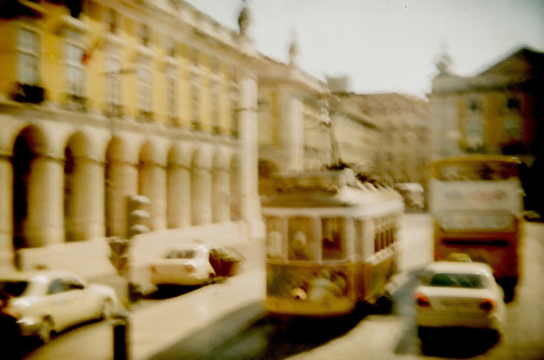 "lisbon and it's yellow ""eletricos"". (:"