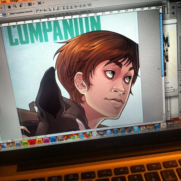 rferrier:  Putting the finishing touches on a pitch for a graphic novel I've been working on for over a year. Amazing collaboration with @elizabethbeals (Taken with Instagram)   This book looks really great. Companion by Ryan Ferrier and Elizabeth Beals