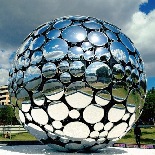 Giant mirror ball sculpture at #Southbank (Taken with Instagram at Southbank, Brisbane)