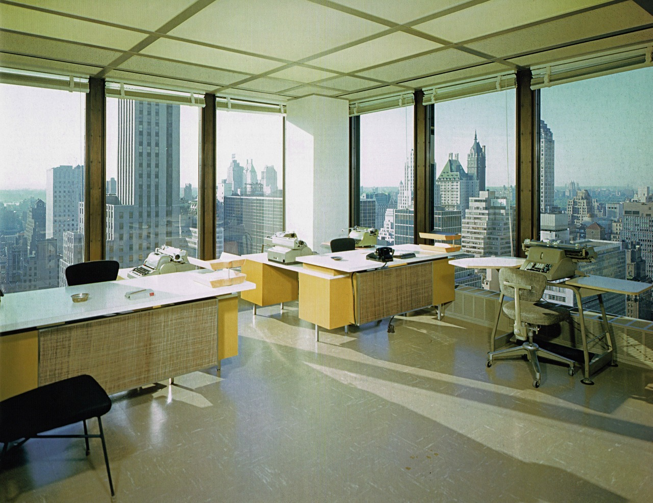 An office inside the Seagram Building, New York, 1958