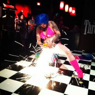 And @missammunition happened on my face #chicago #burlesque  (Taken with Instagram)