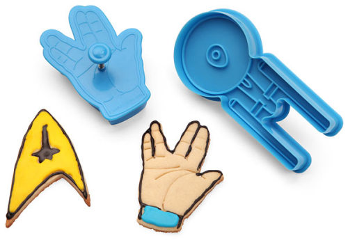 (via ThinkGeek :: Star Trek Cookie Cutters)  Live Long And Eat Cookies!