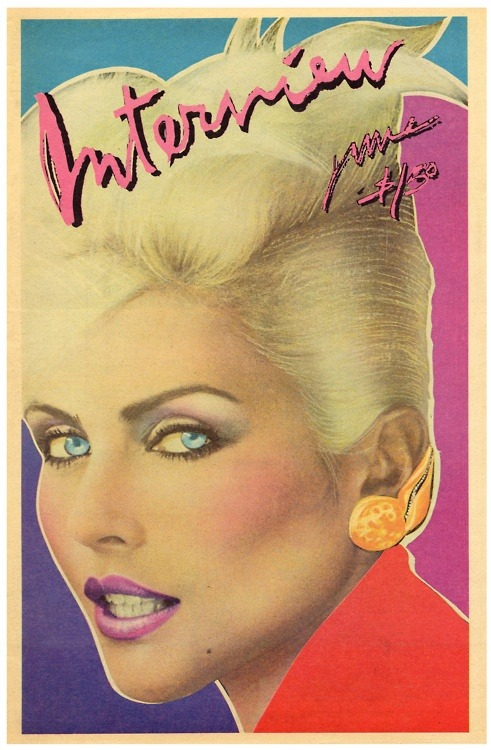 superseventies:  Debbie Harry on the cover of Interview magazine, June 1979.
