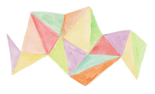 geo watercolor by Caro Martini on Flickr.