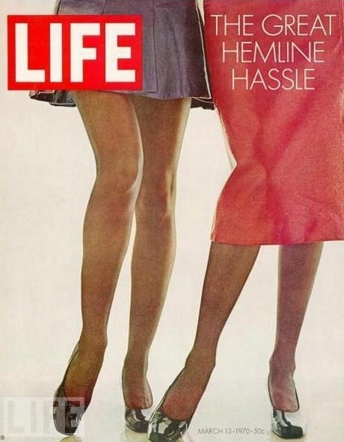 The Great Hemline Issue… Life magazine, March 1970.