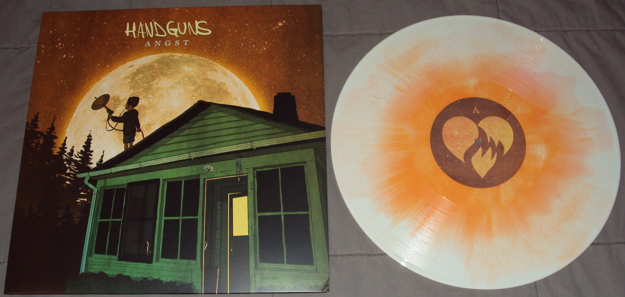 Handguns - Angst LP white w/ orange swirl limited to 200