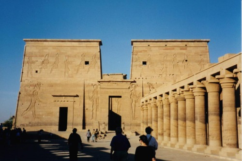 ancientart:  The Ancient Egyptian Temple of Philae, photo taken by Reiner Martin