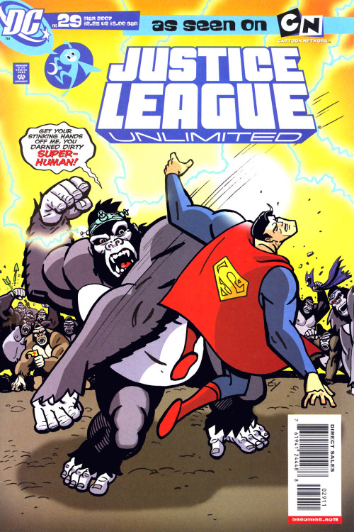 Justice League Unlimited #29, March 2007, cover by Ty Templeton