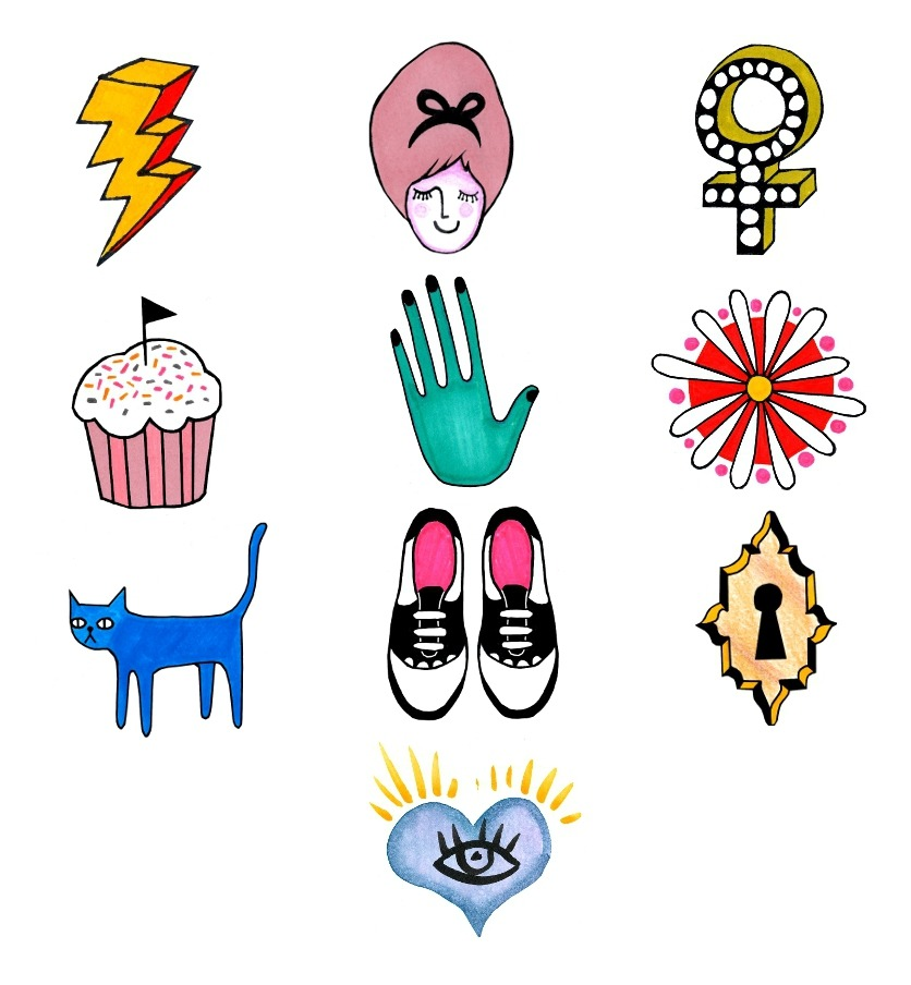 My sticker designs for Rookie, 2012. Most of these were used in Rookie Yearbook One, available now!