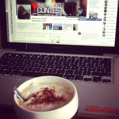 Video contest and amazing cappuccino (Pris avec Instagram)