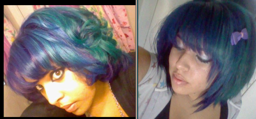 """me with purple blue and green hair <3"" pretty, thanks for sharing!"