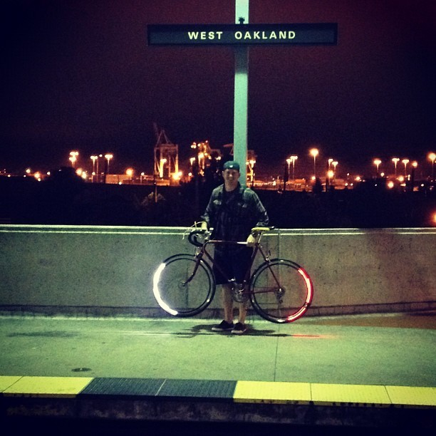 revolights:  We have a #RevoSighting at the #westoakland #BART station! #revolights #igerscycling #igerseastbay @tj_aitken (Taken with Instagram at West Oakland BART Station)  Yeah!  I helped Kickstart this project and I'll be snagging a set when they're available.