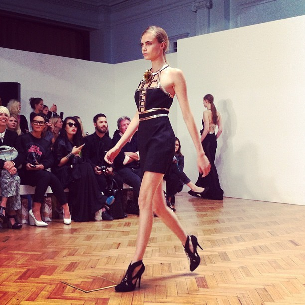 @Caradelevingne at @Sass_and_Bide #LFW  (Taken with Instagram)