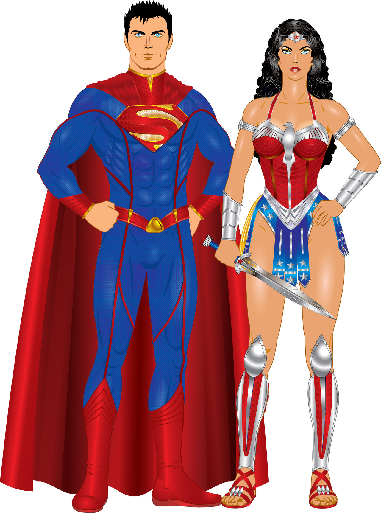 godstaff:  Superman and Wonder Woman - Earth 52  My take on the outfits of Diana and Clark.