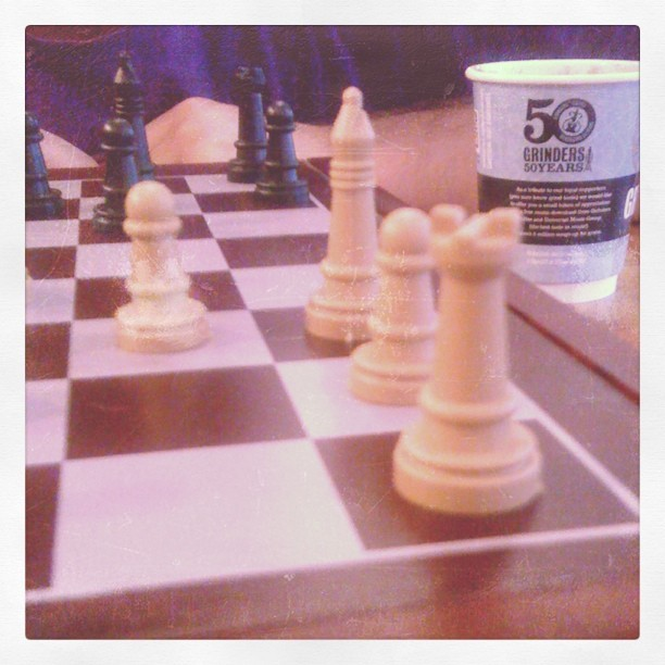 Chess, free coffee and Mumford and Sons' unreleased album @ Mumford and Sons' general store on Oxford st  (Taken with Instagram)