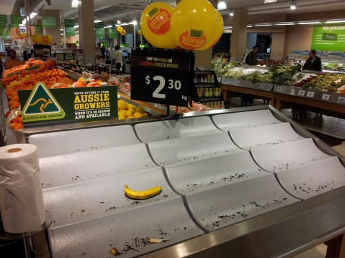 The highlight of last nights drunken supermarket visit; the saddest banana