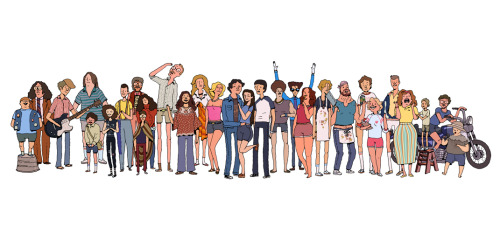 theburrow:  (via the attic) Wet Hot American Summe fanart via Adventure Time's Andy Ristaino