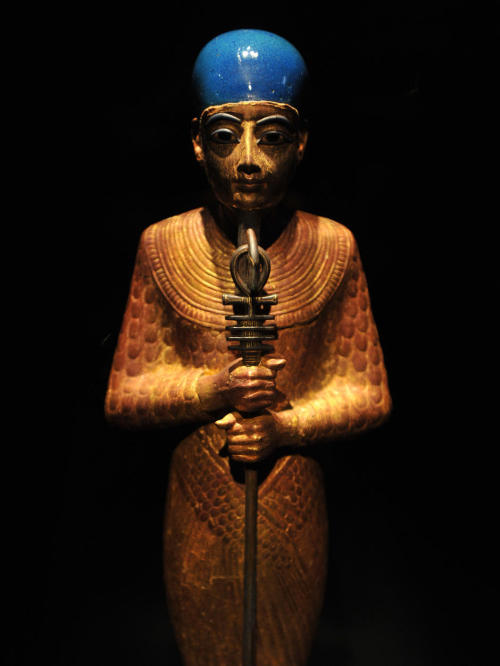 ancientart:  Ancient Egyptian Statue of Ptah, 1322 BC, found in the Tomb of Tutankhamen.