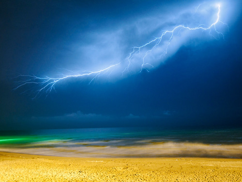 , lightening, caspian sea, northern iran                                                                                                                                                                 photography;. amir ali shafiri