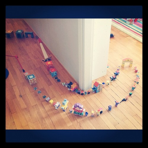 We're making a race car track. #toys #fun #children #kids #boy #child (Taken with Instagram)