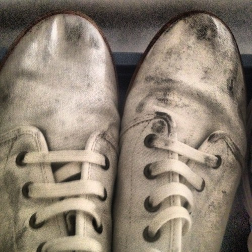 My chukkas were spotless before last night. #TAGhappens.  (Taken with Instagram)