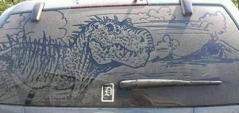 #dinosaur#dirty#automobile#artwork