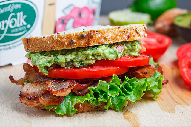 findingmyownbliss:  clottedcreamscone:  Guacamole BLT by Kevin - Closet Cooking on Flickr.  Would give anything to be able to eat this right now….