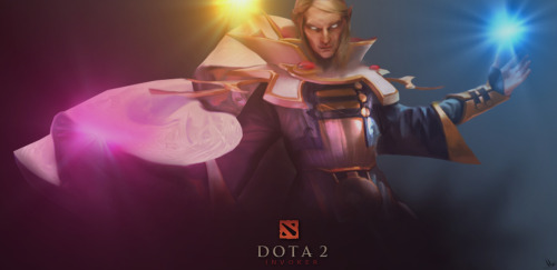 neatbender:  DOTA 2 - Invoker poster sketch by ~Mwingine  All I will be doing for the next forever.