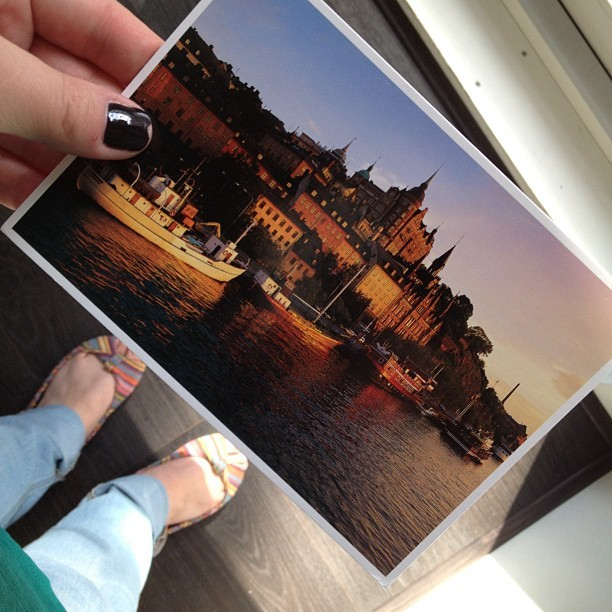 I guess it's #postcard week! Thanks @caitoppermann and Yael! #sweden (Taken with Instagram)