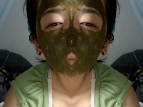 diy green monster mask (just matcha powder and water), haha - does stain a tiny bit, but also made my skin soft and energized. just don't use it before going out…