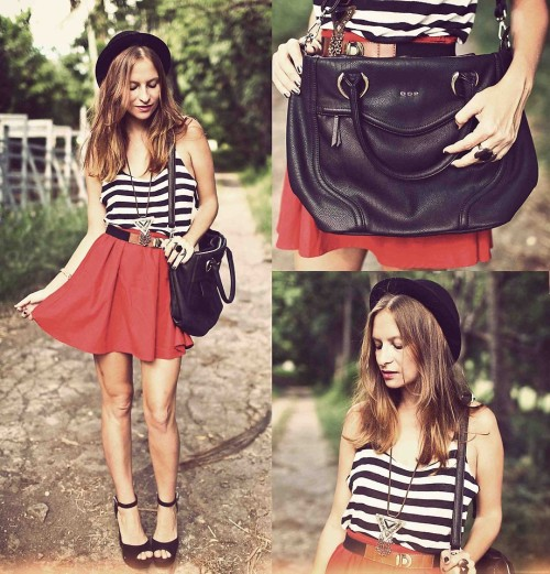 lookbookdotnu:  RED SKATER SKIRT (by Melanie Winter)