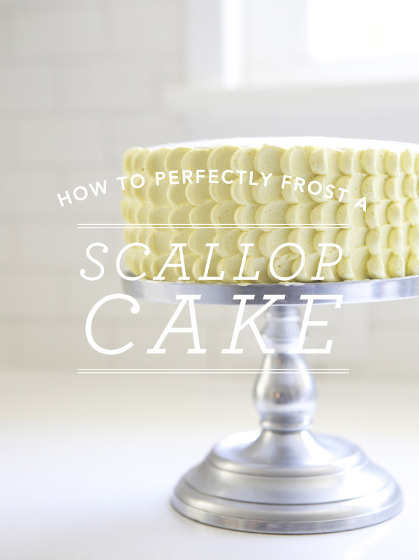 Scallop Cake | Oh Happy Day One thing I love to do but am always terrible at is cake decorating! I always see pictures of these delicious cakes and think - I could totallydo that - and they always promise that it's so easy! Well when I saw this cake I thought, 'Easy? Yeah right'. But once I actually saw this tutorial I thought - hmm, maybe I coulddo that! Yes, it would take more than the usual slap dash 5 minute icing job, but if you're wanting to make a cake for a special occasion then this would be perfect. Plus don't you think it looks even more delicious?!