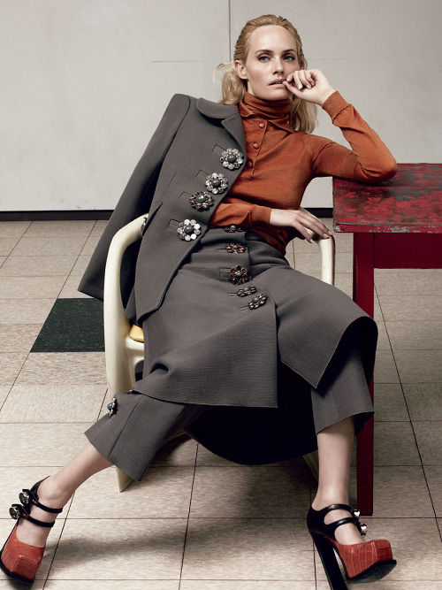 Amber Valletta photographed by Craig McDean for Vogue Italia September 2012