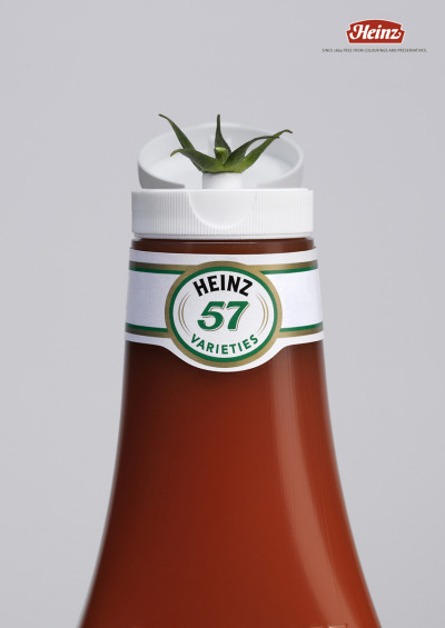 Since 1869 free from colorings and preservatives. Heinz Tomato Ketchup Ad