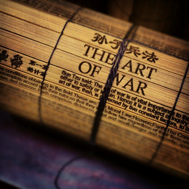 the art of war bamboo book. (by Roger Madsen)