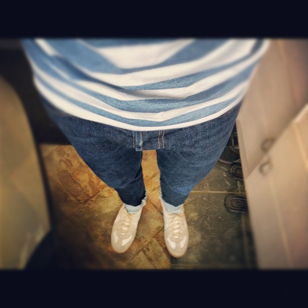 And here's the #ootd with them usual #margiela sneakers  (Taken with Instagram)
