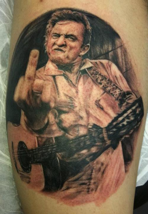 fuckyeahtattoos:  Johnny cash