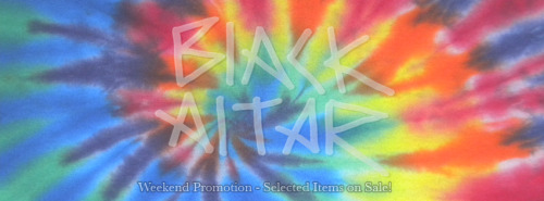 Black Altar Apparel: Weekend Promotion. Attention All Tumblr Followers, This weekends promotion - Selected items on sale, ALL come with free sunglasses! Starting at 3PM TODAY!B.A.Ahttp://www.blackaltarapparel.bigcartel.com/